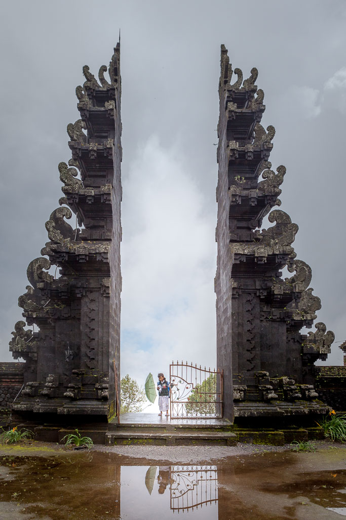Pura Pasar Agung entrance gates after the rain