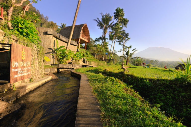 Holiday home Villa Uma Dewi Sri in Bali seen from the river in front of the property