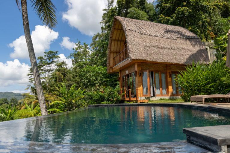 Infinity Pool with rice field views